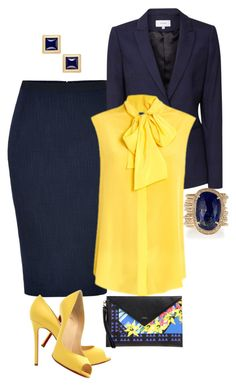 Fashion Tips Design Love the neck bow on the shirt Stylish Work Outfits, Business Casual Outfits, Professional Outfits, Office Outfits, Classy Outfits, Cute Outfits, Fashion Mode, Office Fashion, Work Fashion