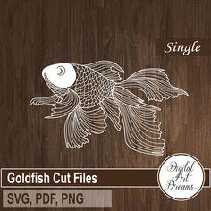3d Cuts, Fish Outline, Paper Cutting Machine, Fish Silhouette, Creepy, Paper Cutting Templates, Golden Fish, Cricut, Clips