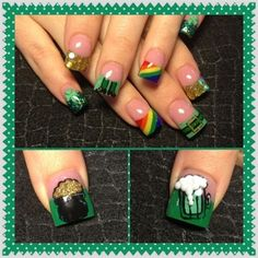 Lucky Tips | 19 Easy St Patricks Day Nail Designs | Easy Nail Art for Beginners Step by Step