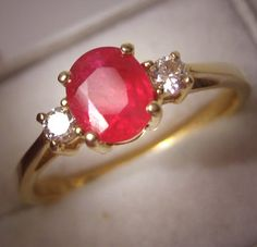 Vintage Ruby and Diamond Wedding Ring