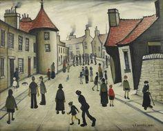 lowry, laurence stephen, r. Nostalgic Art, Street Musician, English Artists, Naive Art, Famous Artists, British Artists, Folk Art, Street Art, Auction