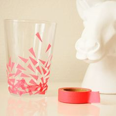DIY – Washi tape drinking glass
