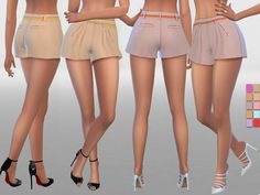 Sims 4 CC's - The Best: Summer Shorts With Belt by Pinkzombiecupcakes