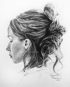 Graphite pencil drawing of Jennifer Lawrence from her new movie Mother!
