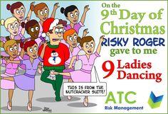 #ATC #12daysofchristmas #December #Christmas #9ladiesdancing #NEBOSH #IOSH #CSkills #Healthandsafety #Nottingham #London #Reading #Manchester