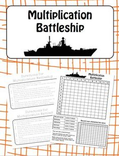 The favorite family game has been altered to be played so that kids can practice their multiplication fact fluency! These sheets can be printed and laminated for permanent use. Perfect for partners to play during a Math Workshop.