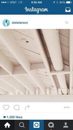Basement ceiling painted Basement Ceiling Painted, Basement Ceiling Options, Ceiling Ideas, Basement Ideas, Basement Renovations, Modern Farmhouse, Stairs, Basements, Jazz