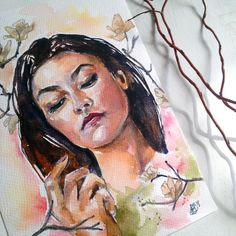 Excited to share the latest addition to my #etsy shop: Magnolia Dream, Watercolour Art, Aquarell, Romantic Art, Original Artwork,Original Painting, Floral Design, Home Decoration, Wall Decoration https://etsy.me/2IhqFmF #art #painting #orange #bronze #watercolour #wall