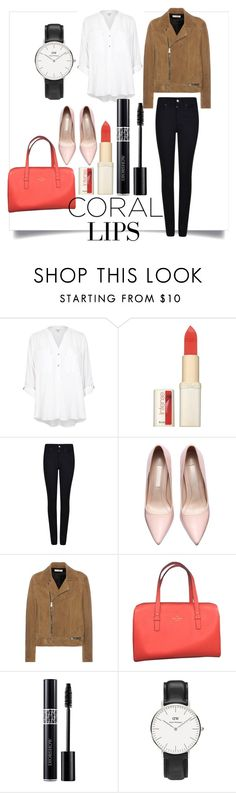 """""""Untitled #1087"""" by sky-colette ❤ liked on Polyvore featuring River Island, L'Oréal Paris, Armani Jeans, Yves Saint Laurent, Kate Spade, Christian Dior, Daniel Wellington, women's clothing, women and female"""