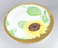 Vintage Signed Hand Painted Sunflower by WhatnotsAndFancifuls