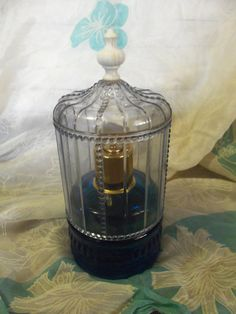 Vintage Avon Birdcage Perfume Bottle w Blue Glass by SusOriginals, $5.00 my mom had this. she still might have it
