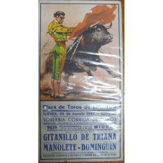 ANTIGUO CARTEL DE TOROS DE LINARES