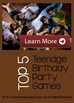 Games For Teen Birthday Party 43