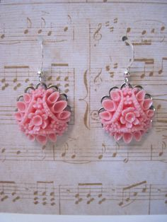 Pale Rose Pink Vintage Inspired Cabochon by gracenotegifts on Etsy, $15.00