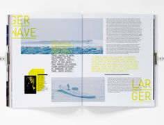 Surf magazine cover and two spreads (Student work)