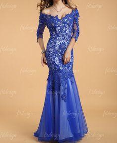 lace+prom+dress+royal+blue+prom+dress+long+prom+dress+by+fitdesign,+$197.00