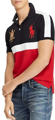 Polo Ralph Lauren Custom Slim Fit Mesh Polo Shirt Polo Shirt c85a5986ee869