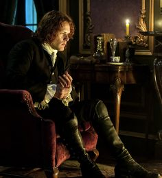 """sherrigamblin: """"outlander-news: """"Sam Heughan as Jamie Fraser   Outlander Season 2   'Non in Scotland Anymore' """" """"I was crying for joy, my Sassenach,"""" he said softly. He reached out slowly and took my..."""