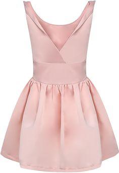 Pink Sleeveless Backless Flare Dress 26.67