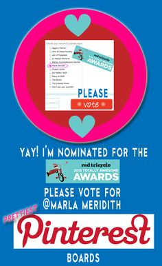 """Would love your votes for the """"Prettiest Pinterest Awards"""" on Red Tricycle :) Thank you bunches!"""