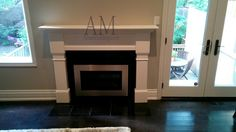 Modern Corner Fireplace Mantels Corner Fireplace Mantels, Family Room Fireplace, Waffle Ceiling, Classic Living Room, Crown Molding, Wainscoting, Wall Units, Gta, Closets