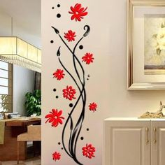 3 Interesting Wall Decor Ideas To Make Your Home Unique Bedroom Wall Paint, Glass Painting Designs, Simple Wall Paintings, Wall Paint Designs, Wall Decor Stickers, Flower Wall Decor, Wall Decor Amazon, Wall Painting Decor, Wall Design