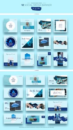 Blue Sky Social Media Designs by Evatheme on @creativemarket #ad