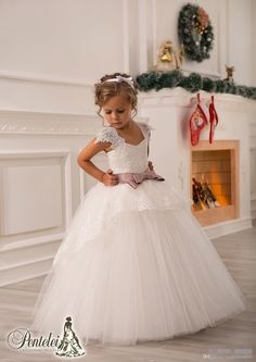 Off Shoulder Lace Sash Ball Gown Net Baby Girl Birthday Party Christmas Princess Dresses Children Girl Party Dresses Flower Girl Dresses Flowers Girl Pageant One Shoulder Online with $62.0/Piece on Magicdress2011's Store | DHgate.com