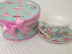 *NEW* Gift Boxed Ceramic Tea Cup & Saucer Set- Mothers Day Gift, Birthday Gift