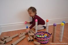 Tubes and Easter Eggs – HAPPY TODDLER PLAYTIME