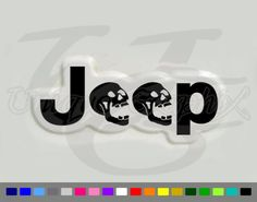 Jeep Wrangler Skull Decal 1 Pair