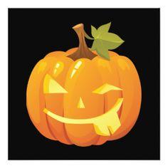 Halloween Pumpkin Smiley Invitation