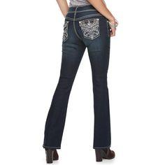 Women's Apt. 9® Embellished Bootcut Jeans, Size: 16 Short, Med Blue