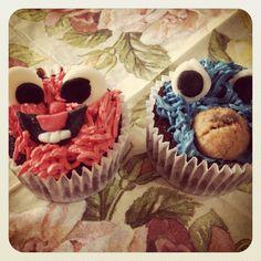 Barrio Sésamo Cupcakes Sesame Street Cupcakes