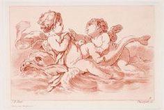 Deux amours avec un dauphin d'après Jean-Baptiste Huet