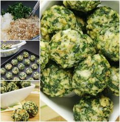 Cheesy Spinach Balls--good use for leftover gluten free stuffing This Spinach Balls Recipe is quick and easy and they are beyond delicious. Spinach Balls A Healthy Appetizer You'll Love Recipes Appetizers And Snacks, Healthy Appetizers, Yummy Snacks, Veggie Recipes, Keto Recipes, Healthy Snacks, Vegetarian Recipes, Healthy Eating, Cooking Recipes