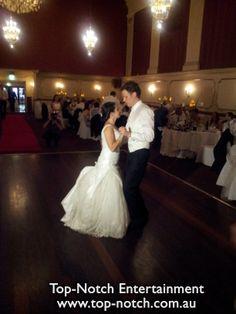 Bridal Waltz/First Dance at the Regal Ballroom, Northcote, Victoria..  www.top-notch.com.au  www.facebook.com/WeddingDJTopNotch