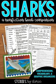 Sharks are fascinating creatures. Gail Gibbons has written a fantastic nonfiction text about sharks. This book companion includes comprehension questions, vocabulary activities, and graphic organizers to help guide your students through the text.