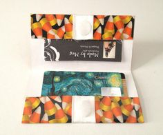 Halloween Business Card Case Duck Tape Candy Corn by MadebyMegToo on Etsy $10
