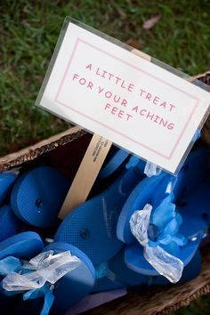 Blue Flip Flop Wedding Favors