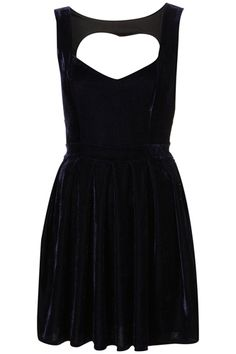 6. Dress up by Topshop Heart Backed Dress    Price: $110.00 us.topshop.com  Cutout dresses with heart details are always a sweet option. This dress is made from a navy blue velvet …