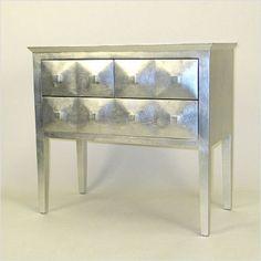modern silver reflective chest