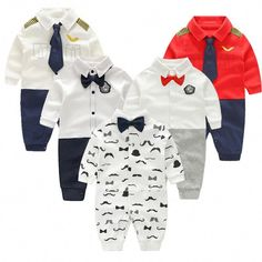 Baby Boy Clothes Bowknot New Born Baby Rompers Cotton Long Sleeve Infant Baby Boy Clothing Set Gentle Style vestido infantil Baby Boy Clothes Hipster, Baby Boy Clothing Sets, Suit Clothing, Infant Clothing, Girl Clothing, Newborn Girl Outfits, Kids Outfits, Baby Outfits, Burberry Baby Girl