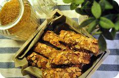 Homemade crunchy oatbars