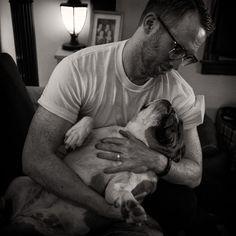 Me and Daisy. She's my friend's English Bulldog. So sweet!