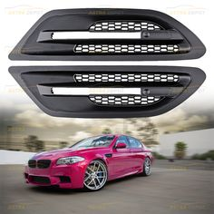 Astra Depot Set Upper Bumper Double Line Glossy Black M-Color Kidney Grille Compatible with 2004-2010 for E63 E64 645Ci 650i M6 2-Door