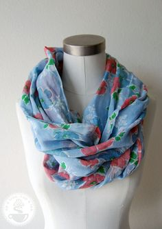 Circle scarf from vintage fabric.  Love this.