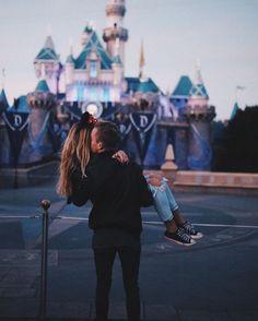 Disneyland Photos 2019 - Couple at Disney Land Disneyland Couples, Disneyland Photos, Disney Couples, Disney Love, Cute Couples, Disney Magic, Disneyland Engagement Photos, Disney Couple Outfits, Disney Engagement Pictures