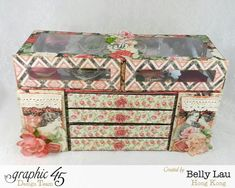 Mini Dresser by Belly Lau #graphic45 #monamour #february #organize #valentinesday