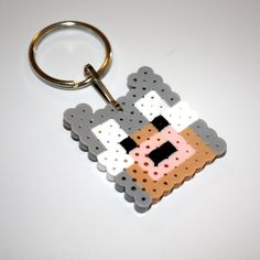 Items similar to Wolf Dog Keychain! Fun for a gift or party favors on Etsy Minecraft Dogs, Hama Beads Minecraft, Minecraft Wall, Minecraft Party, Melty Bead Patterns, Perler Patterns, Beading Patterns, Perler Bead Designs, Fuse Beads